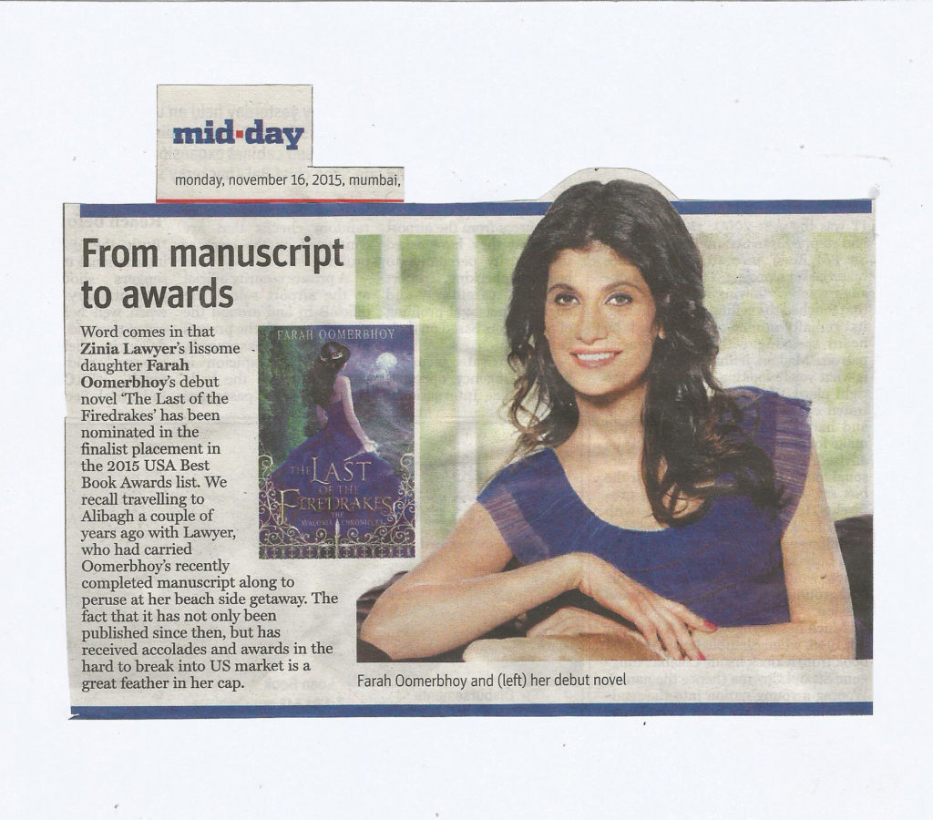 Mid-day - Monday, 16th November Farah Oomerbhoy